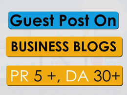 Do Guest Post in PR 5 Business Blog