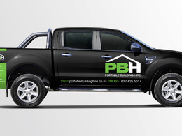 Design your company's vehicle e:g car, van, bus signage