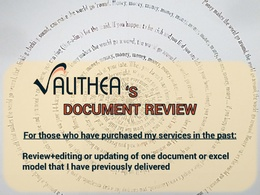Provide 1 day assistance with document updates, DD support and consulting calls