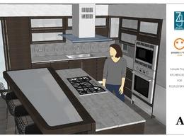Custom Design Your Dream Kitchen + SketchUp model of completed design