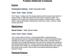 Supply The Direct Contact Information Of Every Editor At Forbes, Fast Company etc.