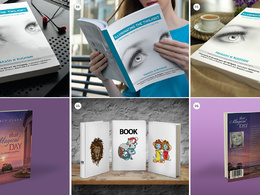 Convert your book cover design to a realistic 3D mockup
