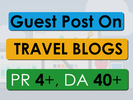 Do Guest Post on PR-5, DA-40 Travel Blog