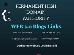 Land on Google 1st page SEO with 30+ HIGH DA Web 2.0 Blogs Backlink