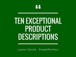 Write x10 sparkling product descriptions