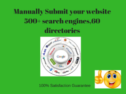 Submit your website 60 directories, 500+ search engines