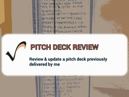 Review or update a pitch deck previously delivered by me