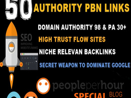 Build 50 Seo BackLinks on High Trust flow /DA 98 PA 30+ Sites (Aged web 2.0)