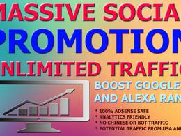 Drive unlimited Social Traffic and boost SEO Alexa Rank