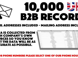 Deliver 10,000 UK Business Email Addresses