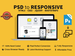 Psd to responsive HTML5+CSS3 using Twitter Bootstrap 3.0