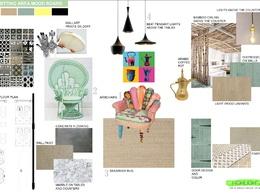 Creative Mood Board, For Interior Design, Architectural