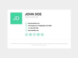 Create and design your business email signature