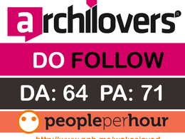 Write & Publish a guest post on Archilovers.com (DA 64, PA 71) with Dofollow link