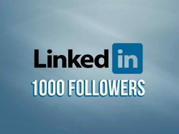 Provide You 1000 Linkedin Follower to your LinkedIn company page