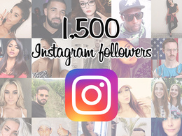 Add 1,500 real and genuine Instagram followers to improve and increase your SEO
