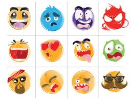Design 5 creative and cool emoji