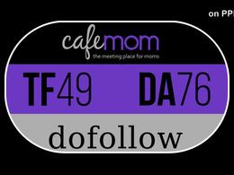 Write and Publish on the cafemom,Cafemom.com with One Dofollow Backlink DA 76,PA 77