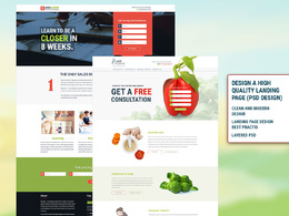 Design a high converting landing page (PSD Only)