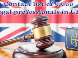 Provide contact list ( email ) of 1,000 UK legal professionals (solicitors)