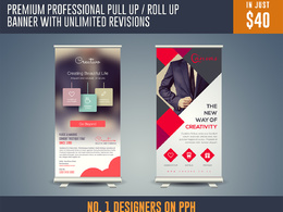 Premium Professional Pull Up / Roll Up Banner Design With Unlimited Revisions