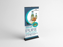 Design a professional RollUp banner.