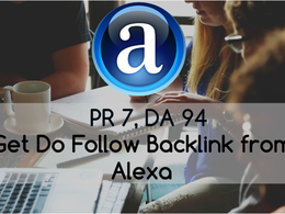 Build Backlink From DA 94 Alexa - 2 DoFollow  Backlinks