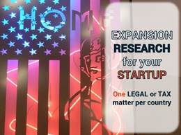 Research regulatory entry barriers to expand your startup (one topic/ one country)