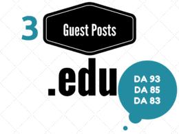 Publish edu guest post on 3 edu blogs