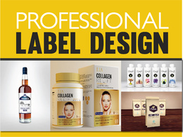 DESIGN A PROFESSIONAL LABEL FOR YOUR PRODUCT. [UNLIMITED REVISIONS]