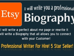 Write your perfect Etsy biography for you