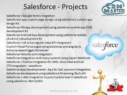 Design, develop a CRM system Using Salesforce.com