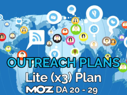 Provide our lite (x3) blogger outreach plan and publish at blogs of Moz DA 20-29