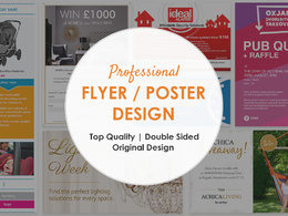 Design stunning, eye catching  poster or double sided flyer / leaflet