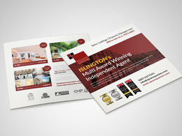 Design a double sided leaflet or flyer