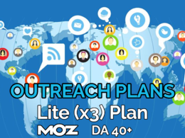 Provide our lite (x3) blogger outreach plan and publish at blogs of Moz DA 40+