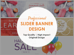 Awesome website banner design / slider banner design
