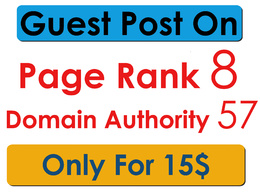 Make a pagerank 8 guest post