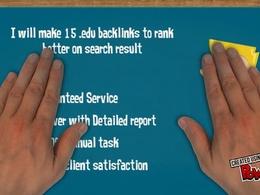 Skyrocket your Google Rankings with 15 .edu .org .gov Seo Social Backlinks
