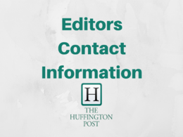 Provide contact info to editors at The Huffington Post