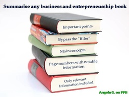 Read and summarise your business and entrepreneurship book