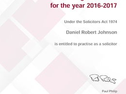 Provide sensible, cost-effective business law related legal advice as a Solicitor