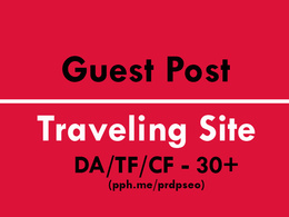 Guest Posting on Highly Quality Travel Website DA40 TF40 CF40