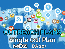 Provide our single (x1) blogger outreach plan and publish at blogs of Moz DA 20+