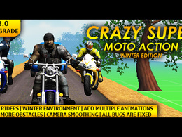 "Unity 3D Endless Bike Shooter Game ""Crazy Super Moto Action"" IOS & Android"