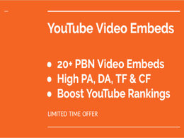 20 PBN YouTube video embeds