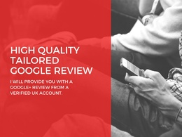 Provide 1 high quality tailored Google+ review.
