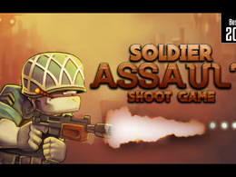 """UNITY 2D Action game For Mobile IOS & Android """"Soldier Assault Shoot Game"""" Template"""