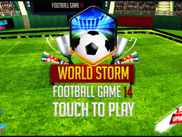 """Mobile Football Game In Unity 3D """"World Storm Football"""" IOS & Android"""