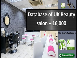 A comprehensive database of UK Beauty Salons 16K